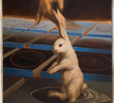 Chen Ching Yuan Rabbit the Time Oil on Canvas