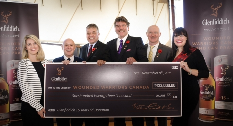 Glenfiddich Wounded Warriors Cheque Presentation 2015 FINAL small