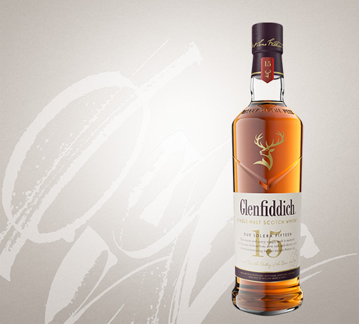 glenfiddich 15 year old single malt whisky bottle