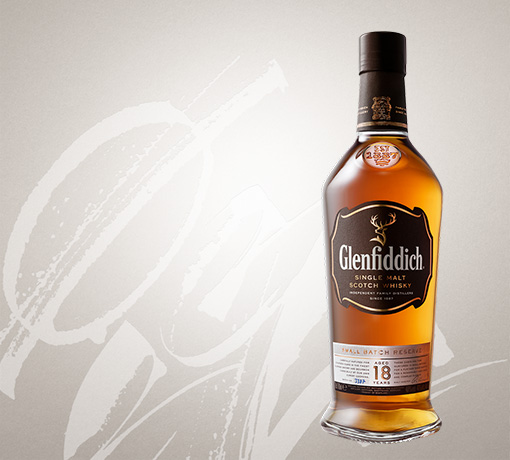 glenfiddich 18 year old single malt whisky bottle