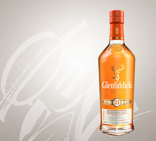glenfiddich 21 year old single malt whisky bottle