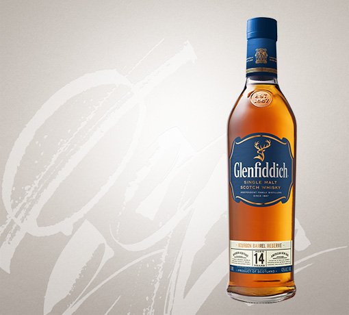 glenfiddich 14 year old single malt whisky US tile