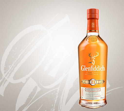 glenfiddich 21 year old single malt whisky US tile