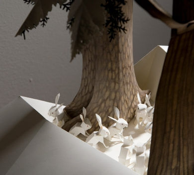 Glenfiddich-Artists in Residence-Kaiser-book-II-myxomatosis-round-table-detail--cut-paper-004.jpg