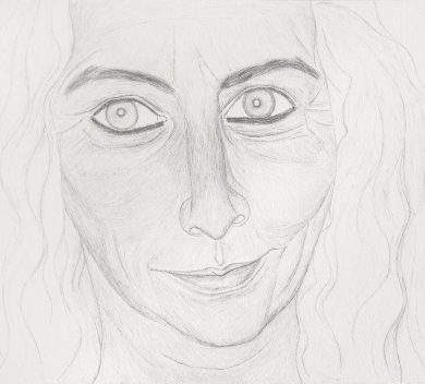 Hu Zi - Kiki Smith Pencil on paper 33 x 51 cm