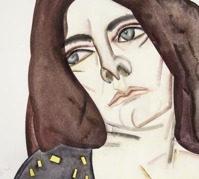 Hu Zi - Robert Plant Gouache on paper 45 x 55 cm