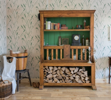 Eleanor King Survival Kit Installation1890s refurbished Irish Chicken Coop dresser found objectsLR