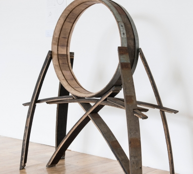 Lin Kun Ying Time Barrel Cask Staves cask hoops 124cm x 105cm x 48cmLR