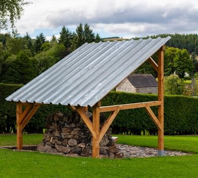 Rhona Jack Stone Wood Steel random stone wood galvanised steel concrete2